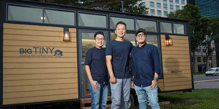 Big Tiny's co-founders Adrian Chia, Dave Ng and Jeff Yeo are childhood friends turned business partners (Photo: Big Tiny)